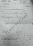 Đề thi thử THPT Quốc gia môn Toán Chuyên Hà Giang lần 1 2020
