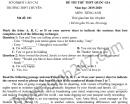 Đề thi thử THPT Quốc gia môn Anh - THPT Chuyên Lào Cai 2020