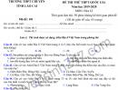 Đề thi thử THPTQG môn Địa THPT Chuyên Lào Cai 2020