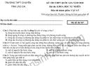 Đề thi thử THPTQG môn Lý - THPT Chuyên Lào Cai 2020
