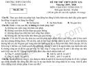 Đề thi thử THPTQG môn GDCD THPT Chuyên Lào Cai 2020