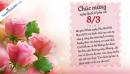 Bộ thiệp chúc mừng 8/3 ngày Quốc tế phụ nữ đẹp nhất