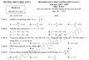 Đề thi thử THPTQG 2020 môn Toán THPT Triệu Sơn 4 lần 1
