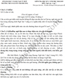 Đề thi kì 2 lớp 7 môn Văn 2019 - THCS Nguyễn Tri Phương