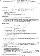 Đề thi thử vào lớp 10 môn Toán 2020 trường THCS Nghĩa Tân