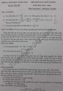 Đề thi thử vào lớp 10 môn Toán 2020 - Quận Tây Hồ