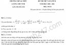 Đề thi thử vào lớp 10 môn Toán 2020 - THPT Lương Thế Vinh lần 2