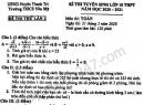 Đề thi thử vào lớp 10 môn Toán - THCS Yên Mỹ 2020 lần 1