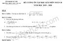 Đề cương ôn tập kì 2 lớp 10 môn Toán 2020 - THPT Chu Văn An