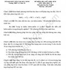 Đề thi giữa học kì 2 môn Hóa lớp 10 THPT Lý Thái Tổ 2020