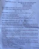 Đề thi thử vào lớp 10 THPT Chu Văn An năm 2020 môn Toán