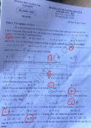 Đề thi học kì 2 môn Toán lớp 10 Sở GD Nam Định năm 2020
