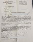 Đề thi học kì 2 môn Toán lớp 8 THCS Nguyễn Gia Thiều năm 2020
