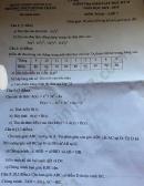 Đề thi học kì 2 môn Toán lớp 7 THCS Quỳnh Thắng năm 2020