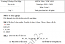 Đề thi kì 2 môn Toán lớp 3 năm 2020 - TH Tân Hiệp