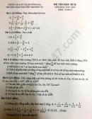 Đề thi học kì 2 năm 2020 Toán lớp 6 THCS Nguyễn Trường Tộ