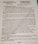 Đề thi học kì 2 môn Văn lớp 10 THPT Nguyễn Văn Thìn 2020