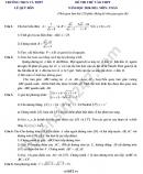 Đề thi thử vào lớp 10 môn Toán năm 2020 THCS-THPT Lê Quý Đôn