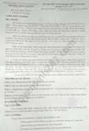 Đề thi thử THPTQG 2020 môn Văn THPT chuyên Sơn La