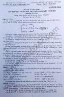 Đáp án đề thi vào lớp 10 SPHN môn Hóa chuyên 2020