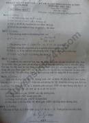 Đáp án đề thi môn Toán vào lớp 10 tỉnh Quảng Ngãi năm 2020