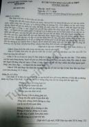 Đáp án đề thi môn Văn vào lớp 10 tỉnh Bình Định năm 2020