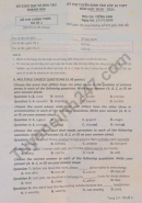Đáp án đề thi vào lớp 10 môn Anh tỉnh Khánh Hòa năm 2020