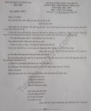 Đáp án đề thi vào lớp 10 năm 2020 môn Văn tỉnh Bến Tre
