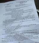 Đáp án đề thi vào lớp 10 môn Văn Hà Nội 2020