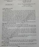 Đáp án đề thi môn Văn vào lớp 10 tỉnh Thanh Hóa năm 2020