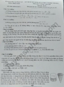 Đáp án đề thi môn Toán vào lớp 10 - Thừa Thiên Huế 2020