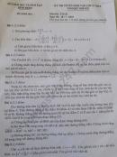 Đáp án đề thi môn Toán vào lớp 10 - Bình Định 2020