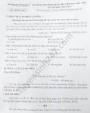 Đáp án đề thi môn Văn vào lớp 10 tỉnh Vĩnh Phúc 2020