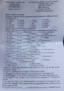 Đáp án đề thi vào lớp 10 môn Anh tỉnh Quảng Ngãi năm 2020