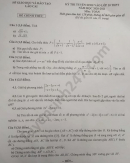 Đáp án đề thi môn Toán vào lớp 10 tỉnh Lào Cai năm 2020