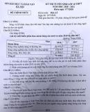 Đáp án đề thi vào lớp 10 năm 2020 môn Địa trường chuyên Hà Nội