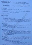 Đáp án đề thi vào lớp 10 môn toán Đà Nẵng 2020