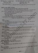 Đáp án đề thi vào lớp 10 môn Văn tỉnh Trà Vinh 2020