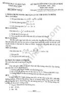 Đáp án đề thi vào lớp 10 môn Toán tỉnh Trà Vinh 2020