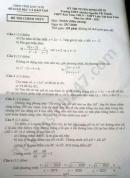 Đáp án đề thi vào lớp 10 môn Toán tỉnh Kon Tum năm 2020