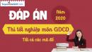 Đáp án đề thi tốt nghiệp THPT 2020 môn GDCD - Tất cả mã đề