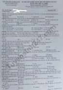 Đáp án đề thi môn Sinh tốt nghiệp THPT 2020 mã đề 220