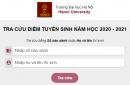 Tra cứu kết quả trúng tuyển năm 2020 Đại học Hà Nội