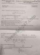 Đề kiểm tra giữa HK1 môn Toán lớp 12 - THPT Marie Curie 2020