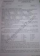 Đề kiểm tra giữa kì 1 môn Anh lớp 12 năm 2020 - THPT Đức Hợp
