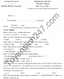 Đề kiểm tra giữa HK1 Sinh lớp 12 năm 2020 THPT Lục Ngạn số 3