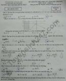 Đề kiểm tra giữa HK1 2020 THPT Nguyễn Trung Trực Toán lớp 12