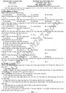 Đề kiểm tra giữa HK1 Hóa lớp 12 năm 2020 Tỉnh Bắc Ninh