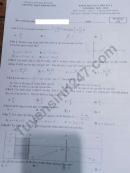 Đề kiểm tra giữa HK1 năm 2020 môn Toán lớp 12 - THPT Khánh Sơn
