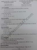 Đề kiểm tra giữa HK1 môn Toán lớp 6 huyện Kim Thành 2020